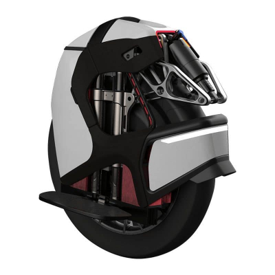 white kingsong s18 electric unicycle with air suspension