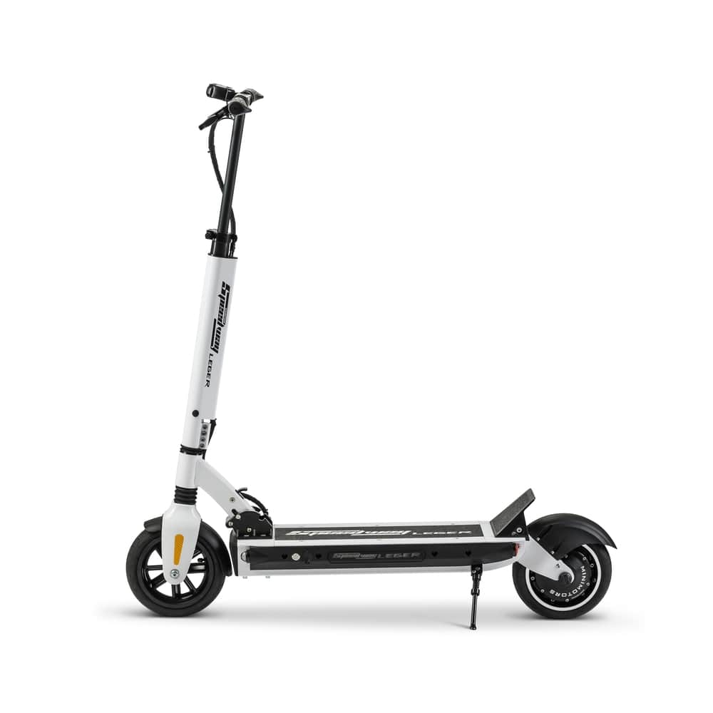 white speedway leger 85 inch electric scooter by minimotors-min