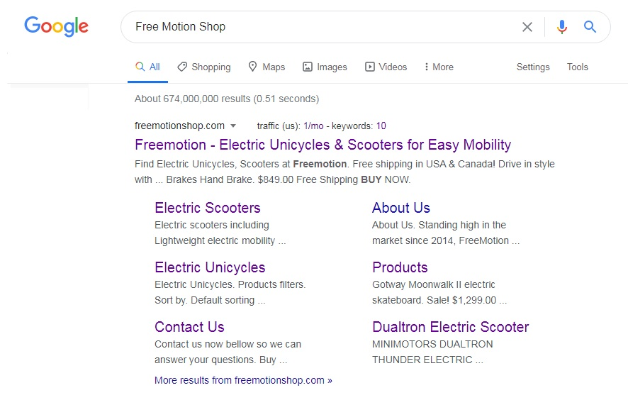 search online for freemotionshop