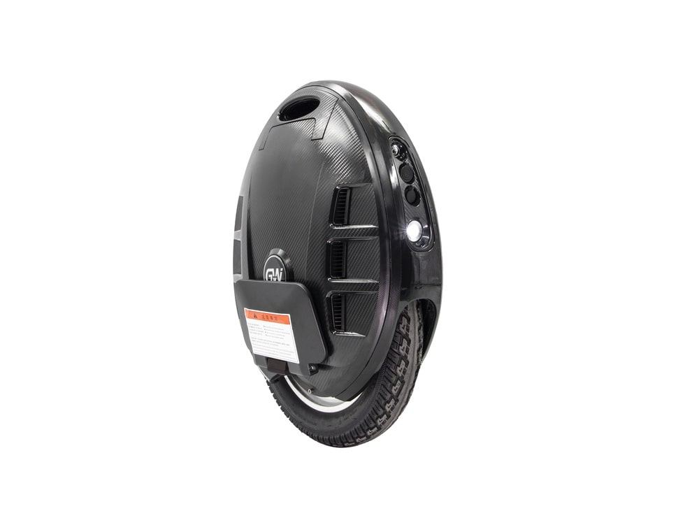 black gotway mcm5 electric unicycle with headlight