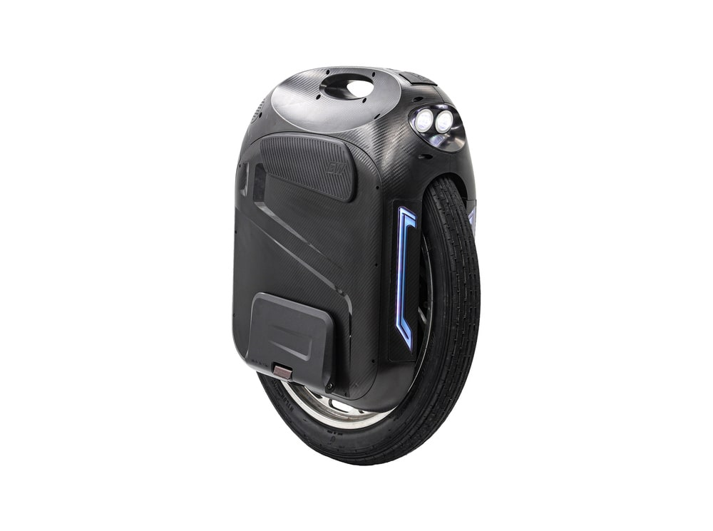 black gotway monster pro electric unicycle with front lights