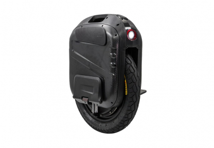 black gotway ex electric unicycle with headlight and integrated suspension