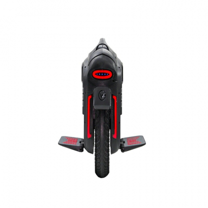 black gotway rs electric unicycle with red taillights