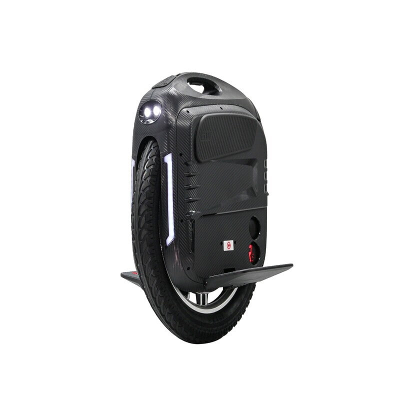 black gotway rs 19-inch 100v/1800wh electric unicycle with bluetooth speakers