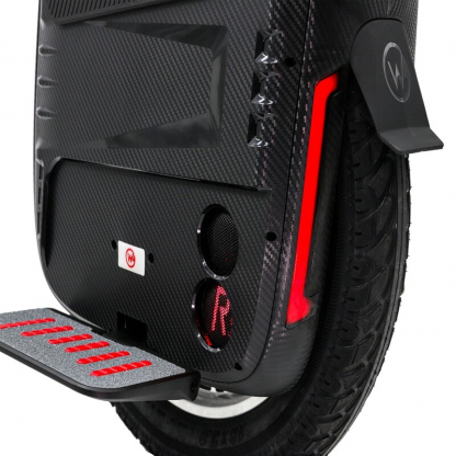 gotway rs e-unicycle with red led lights and speakers