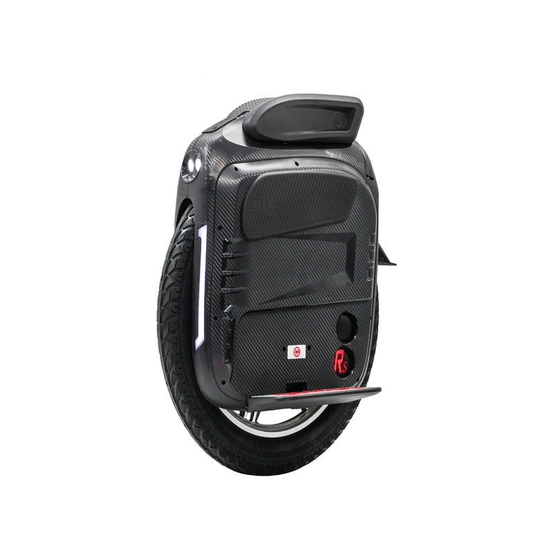 black gotway rs e-unicycle with seat speakers