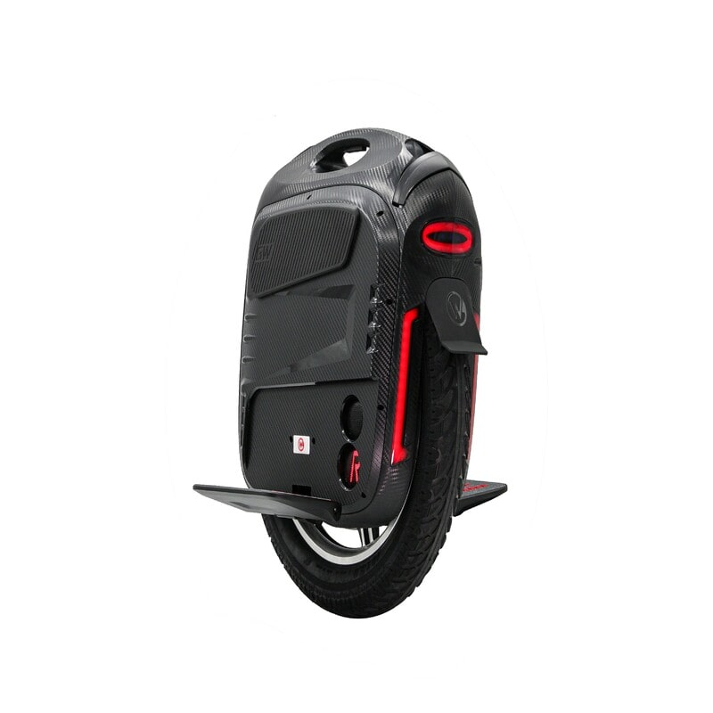 black gotway rs electric scooter with red taillights and speakers