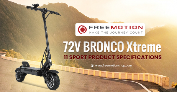 72V BRONCO Xtreme 11 Sport Product Specifications