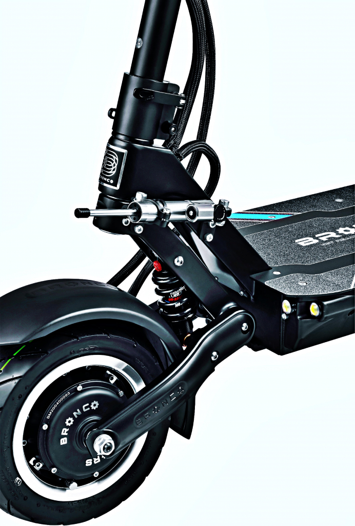 bronx xtrem 11 sport edition electric scooter with steering damper