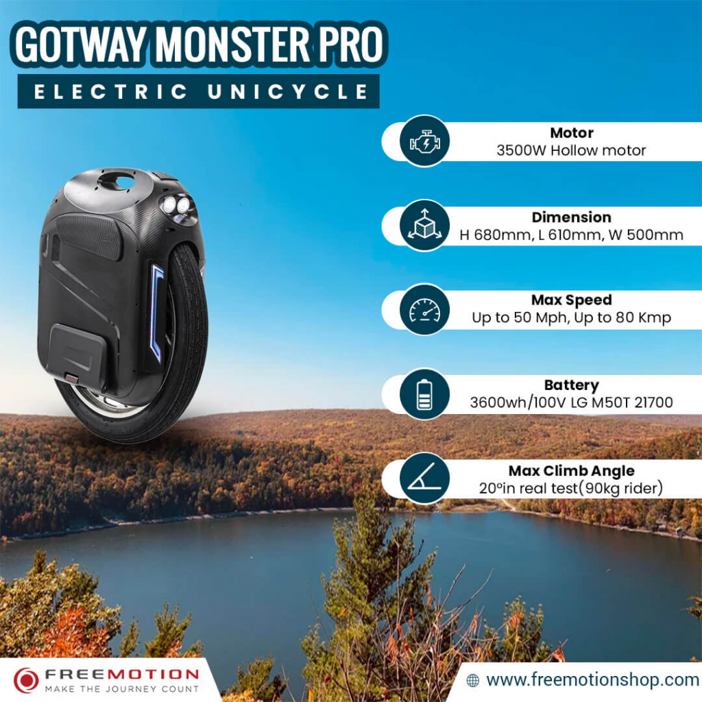 gotway monster pro 24 inches electric specs
