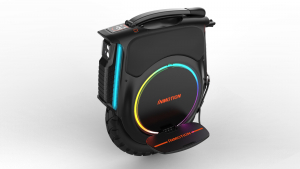 inmotion v12 electric unicycle with front headlight and side rgb lights